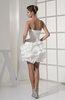 Sexy Hall Sweetheart Sleeveless Taffeta Mini Bridal Gowns