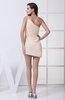 Cute Sheath Asymmetric Neckline Sleeveless Short Ruching Club Dresses