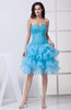 Sexy Baby Doll Sweetheart Sleeveless Organza Sequin Cocktail Dresses