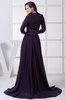 Vintage A-line Chiffon Court Train Ribbon Graduation Dresses