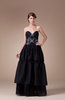 Modest Sleeveless Backless Floor Length Appliques Party Dresses