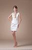 Mature Jewel Sleeveless Mini Rhinestone Homecoming Dresses