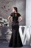 Glamorous Mermaid V-neck Zipper Floor Length Graduation Dresses