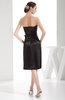 Elegant Sheath Sweetheart Zip up Silk Like Satin Bow Little Black Dresses