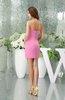 Cute Sweetheart Zipper Satin Short Prom Dresses