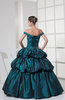 Vintage Off-the-Shoulder Lace up Taffeta Floor Length Quinceanera Dresses