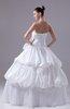 Gorgeous Church Ball Gown Zipper Taffeta Floor Length Bow Bridal Gowns