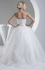 Fairytale Church Ball Gown Strapless Sleeveless Floor Length Bridal Gowns