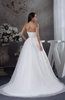 Romantic Church Sleeveless Lace up Court Train Bridal Gowns
