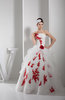 Classic Church Ball Gown Strapless Sleeveless Backless Organza Bridal Gowns
