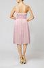 Romantic A-line Sleeveless Zipper Chiffon Tea Length Bridesmaid Dresses