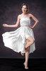 Casual A-line Sweetheart Zip up Tea Length Bridesmaid Dresses