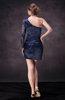 Glamorous Sleeveless Zip up Silk Like Satin Lace Cocktail Dresses