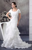 with Sleeves Bridal Gowns Modest Organza Amazing Petite Western Country