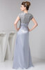 with Sleeves Evening Dress Long Summer Inexpensive Beaded Semi Formal
