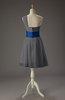 Romantic A-line Asymmetric Neckline Sleeveless Chiffon Short Homecoming Dresses