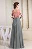 Vintage A-line V-neck Sleeveless Floor Length Pleated Evening Dresses