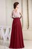 Antique V-neck Sleeveless Zip up Floor Length Bridesmaid Dresses