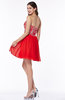 Informal A-line Sleeveless Zip up Chiffon Short Plus Size Prom Dresses