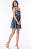 Modern A-line Strapless No Short Sequin Plus Size Prom Dresses