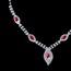 Stylish Pendant Necklaces Rhinestones Anniversary Jewelry Sets