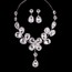 Alloy Pendant Necklaces Gift Flower Style Jewelry Sets