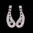 Special Occasion Drop Earrings Attractive Rhinestones Jewelry Sets