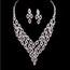 Rhinestones Pendant Necklaces Unique Jewelry Sets Wedding