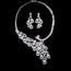 Rhinestones Vintage Necklaces Engagement Jewelry Sets Fashional