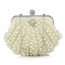 Metal Bridal Purse Single Strap Lovely Imitation Pearl