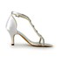 Rhinestone Sandals Cone Heel Satin Pumps/Heels Women's Party & Evening