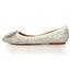 Pointed Toe Flats Patent Leather Wedding Women's Flat Heel Imitation Pearl
