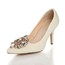 Rhinestone Wedding Shoes Patent Leather Office & Career Cone Heel Average Girls'