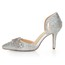 D'Orsay & Two-Piece Pumps/Heels Rhinestone Average Sheepskin Kitten Heel Women's