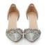 D'Orsay & Two-Piece Pumps/Heels Rhinestone Average Sheepskin Kitten Heel Women's