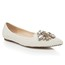 Imitation Pearl Wedding Shoes Girls' Closed Toe Flat Heel Patent Leather Graduation