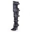 Cow Leather Pumps/Heels Over The Knee Boots Closed Toe Graduation Average Buckle