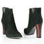Kitten Heel Wedding Shoes Pumps/Heels Swede Leather Zipper Booties/Ankle Boots Women's