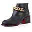 Average Pumps/Heels Booties/Ankle Boots Pointed Toe Chain Chunky Heel Cow Leather