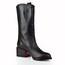 Rivet Pumps/Heels Mid-Calf Boots Square Heel Genuine Leather Women's Wedding