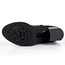 Cow Leather Pumps/Heels Boots Zipper Mid-Calf Boots Square Heel Casual