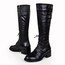Low Heel Flats Graduation Average Knee High Boots Women's Lace-Up