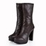 Square Heel Platforms Average Pumps/Heels Girls' Mid-Calf Boots Cow Leather