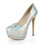 Stiletto Heel Pumps/Heels Women's Average Closed Toe Dress Patent Leather