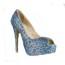 Office & Career Platforms Sheepskin Women's Average Stiletto Heel Pumps/Heels