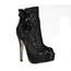 Lace Pumps/Heels Split Joint Stiletto Heel Booties/Ankle Boots Average Women's