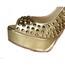 Peep Toe Platforms Women's Outdoor Rivet Average Patent Leather