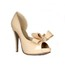 Bowknot Wedding Shoes Patent Leather Sandals Average Wedding Stiletto Heel