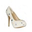Wedding Wedding Shoes Closed Toe Average Imitation Pearl Cone Heel Patent Leather