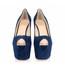 Swede Leather Platforms Women's Average Stiletto Heel Dress Peep Toe